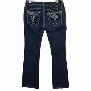 Miss Me Embroidered Bootcut Bling Pocket Jeans